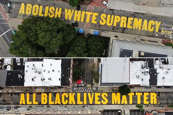BLM street murals in Newark