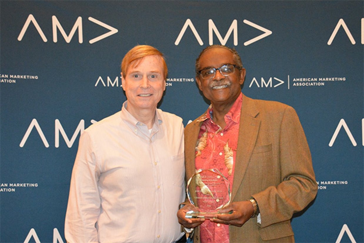 Jerome Williams with AMA CEO Russ Klein